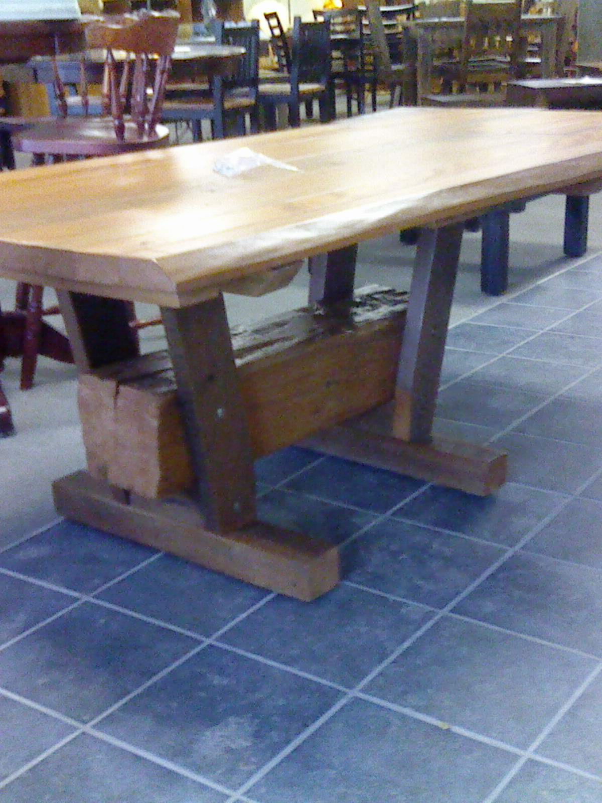 Reclaimed Coffe end and beam table 004